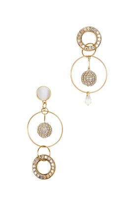 Mika Mismatched Crystal Earrings by Mignonne Gavigan