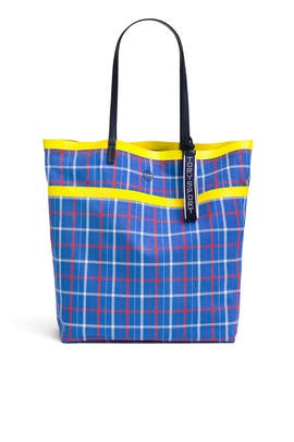 Large Plaid Tote by Tory Sport Accessories
