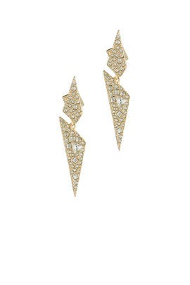 Crystal Origami Earrings by Alexis Bittar