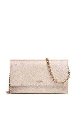 Gold Glitter Brennan Clutch by kate spade new york accessories