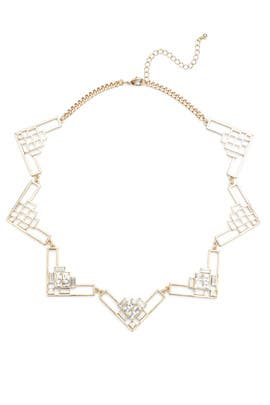 Gold Openwork Deco Necklace by Slate & Willow Accessories