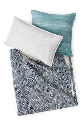 King- Waffle Diamond Bedding Bundle by West Elm