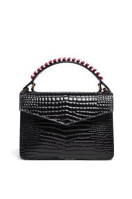 Black Mini Pixie Knits Bag by Les Petits Joueurs