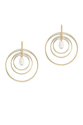 Multi Hoop Pearl Earrings by Tory Burch Accessories
