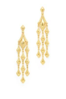 Gilded Drop Earrings by Ben-Amun