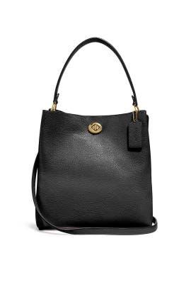 Black Gold Charlie Bucket Bag by Coach Handbags