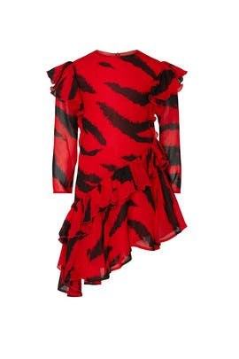 Kids Tiger Print Dress by Philosophy di Lorenzo Serafini Kids