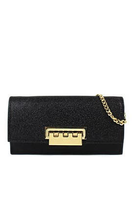 Glitter Earthette Flat Crossbody by ZAC Zac Posen Handbags