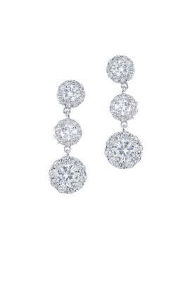Triple Drop Post Earrings by Kenneth Jay Lane