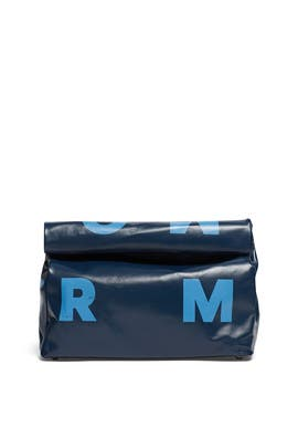 Blue Jean Logo Mini Lunch Bag by Simon Miller Handbags