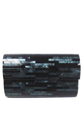 Black Resin Minaudiere by Sondra Roberts