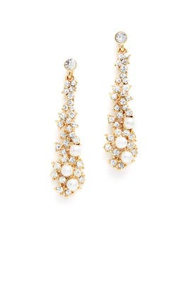 Crystal Waterfall Drop Earrings by Slate & Willow Accessories