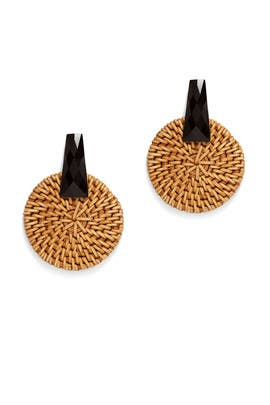Raffia Circle Earring by Kenneth Jay Lane