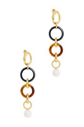 Multi Linked Tortoise Earrings by Lizzie Fortunato