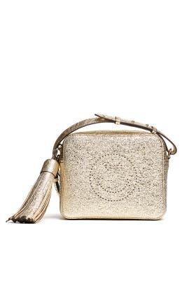 Metallic Smiley Crossbody Bag by Anya Hindmarch