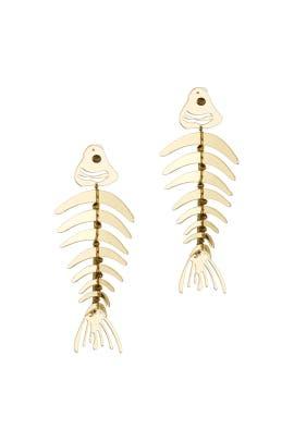 Bold Fish Earrings by Oscar de la Renta
