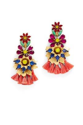 Laticia Fringe Earrings by Elizabeth Cole