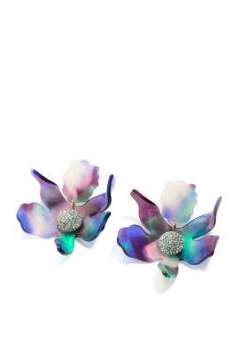 Multi Crystal Lily Earrings by Lele Sadoughi