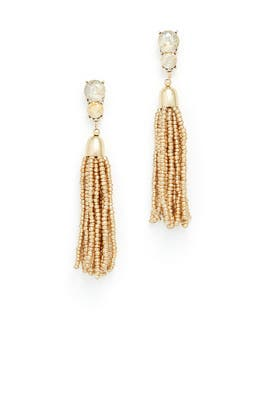 Gold Beaded Earrings by Slate & Willow Accessories