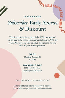 Free DC VIP Ticket by Rent the Runway