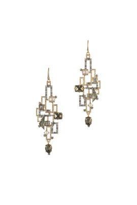Brutalist Stone Wire Earrings by Alexis Bittar