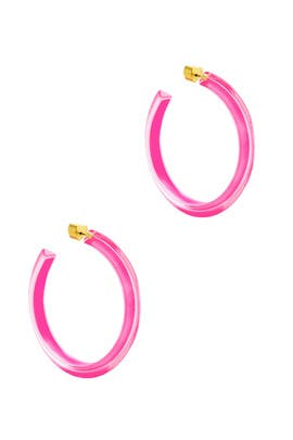 Neon Pink Medium Jelly Hoops by Alison Lou