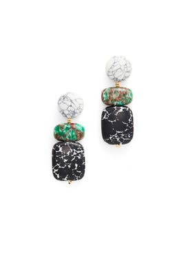 Boulder Drop Earrings by Lele Sadoughi