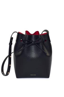 Black Saffiano Mini Bucket Bag by Mansur Gavriel Accessories