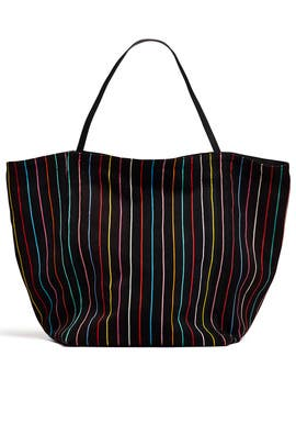 Stripe Teller Tote by Elizabeth and James Accessories