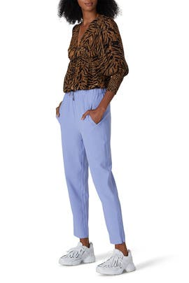 Light Blue Heavy Crepe Pants by GANNI