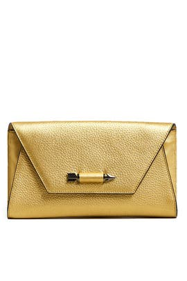 Gold Flex Clutch by Mackage Handbags