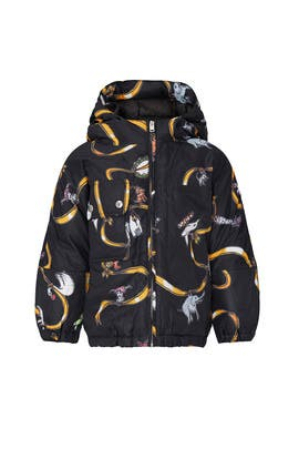 Kids Printed Hooded Jacket by Marni Kids