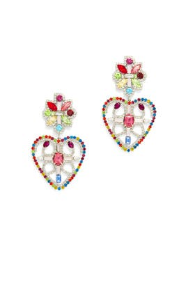 Camellias Heart Earrings by Dannijo