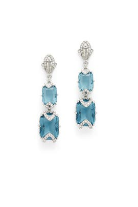 Something Blue Drop Earrings by Jenny Packham