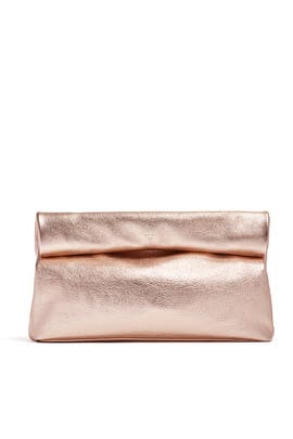 Rose Gold Lunch Clutch by Marie Turnor