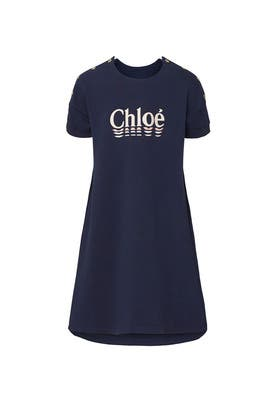 Kids Button Logo Dress by Chloé Kids