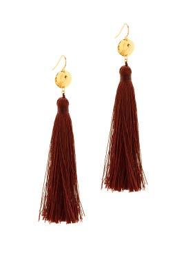 Wine Leucadia Earrings by Gorjana