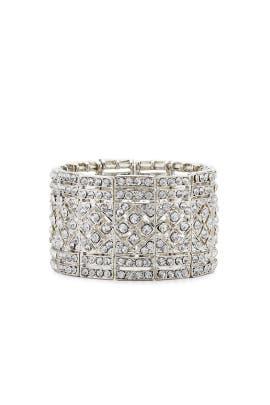 Crystal Deco Bracelet by Kenneth Jay Lane