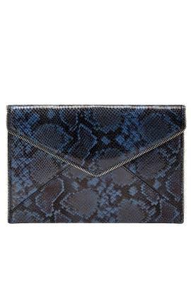 Blue Snake Printed Leo Clutch by Rebecca Minkoff Accessories