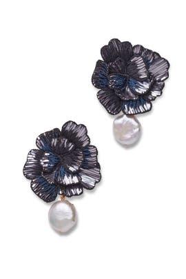 Cosmic Flower Earrings by Lizzie Fortunato