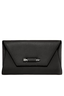Black Flex Clutch by Mackage Handbags