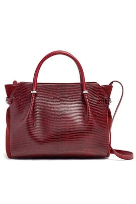 Red Marche Satchel by Nina Ricci Accessories