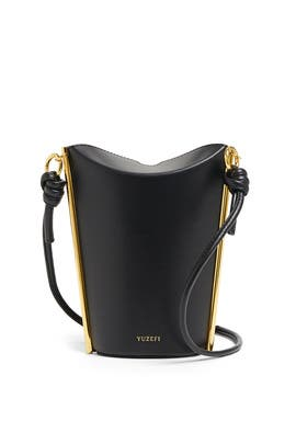 Black Pitta Leather Bag by Yuzefi