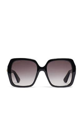 Oversized Black Grey Sunglasses by Gucci