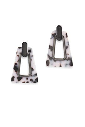 Trapezoid Resin Statement Earrings by Rebecca Minkoff Accessories