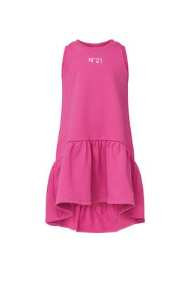Kids Tiered Logo Print Dress by No. 21 Kids