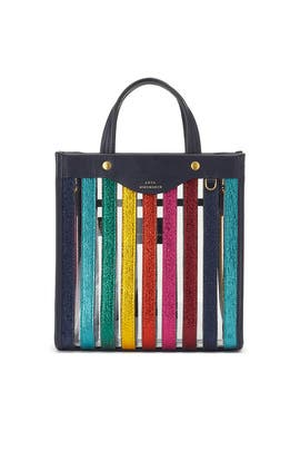 Clear Multi Stripes Tote by Anya Hindmarch