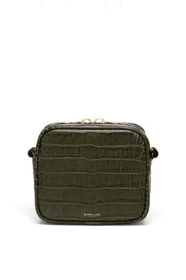 Olive Croc Athens Camera Bag	 by DeMellier London