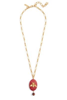Cayenne Fly Stone Necklace by Oscar de la Renta