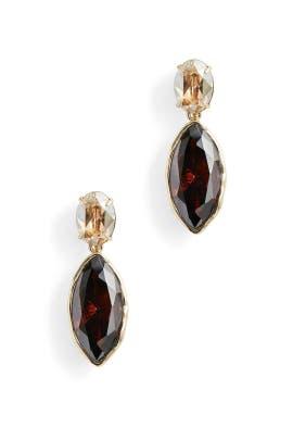 Navette Crystal Drop Post Earrings by Alexis Bittar